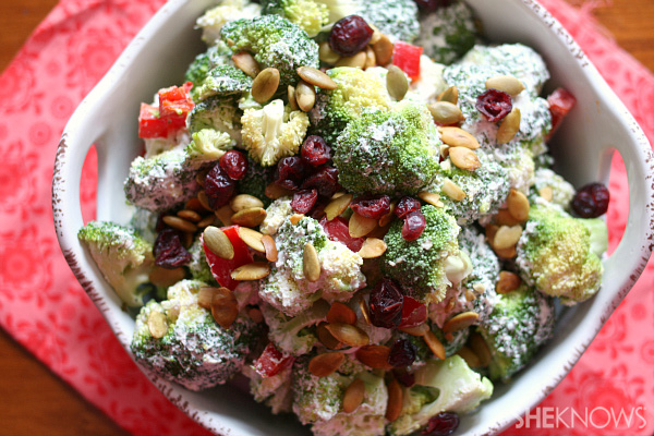 Skinny broccoli salad recipe