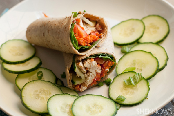 Easy rotisserie Thai chicken wraps recipes |SheKnows.com