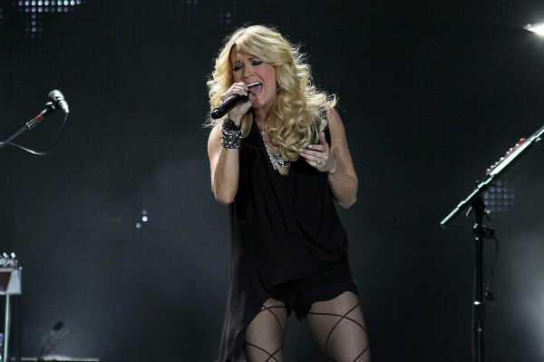 Carrie Underwood performing in concert