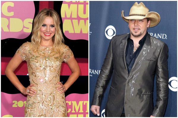 2013 CMT Music Awards hosts Kristen Bell and Jason Aldan