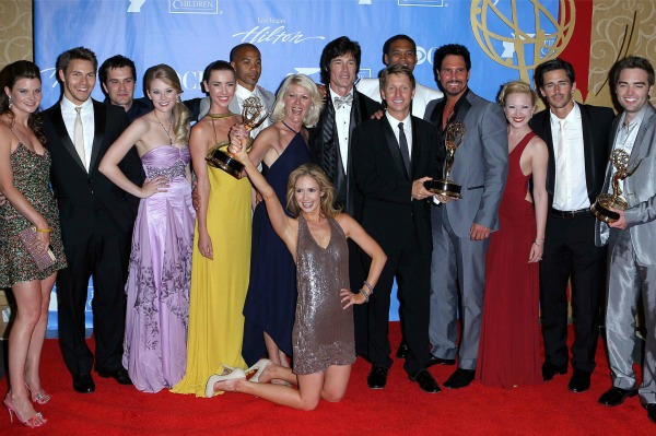 The cast of The Bold and the Beautiful at the 2010 Daytime Emmys