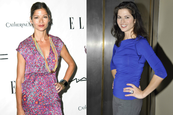 Jill Hennessy and twin sister Jacqueline