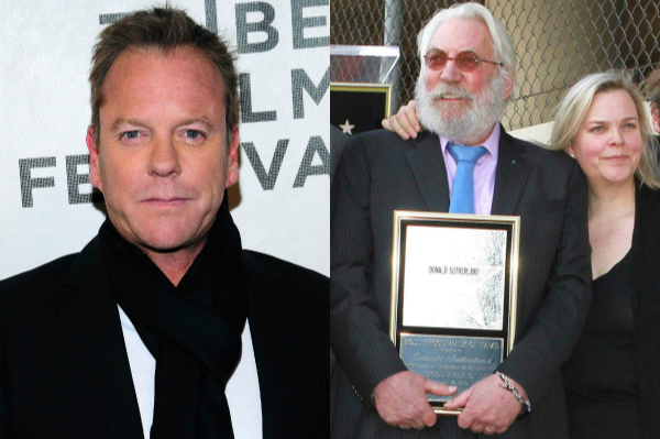 Kiefer Sutherland, father Donald, and twin sister Rachel