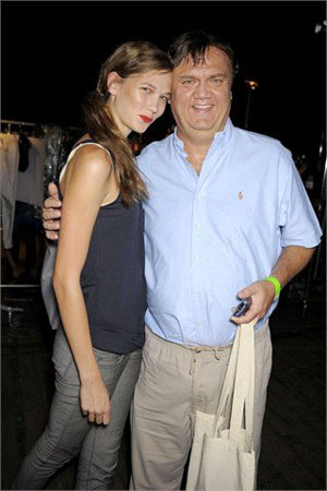 Photo of Karlie Kloss & her Father  Kurt Kloss