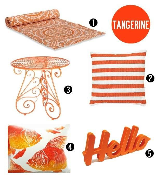 Tangerine decor