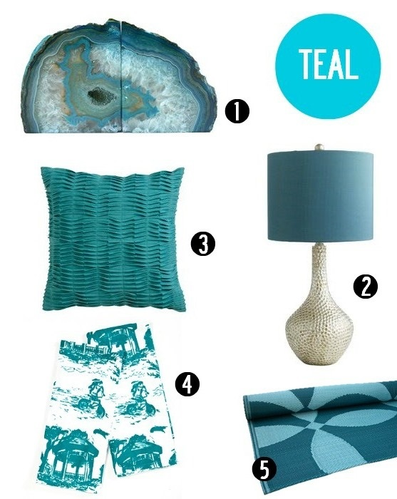Teal decor