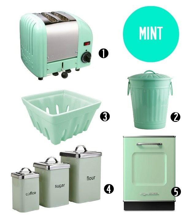 Mint Green Kitchen Appliances: Kitchen Accents In The Hottest Summer Hues