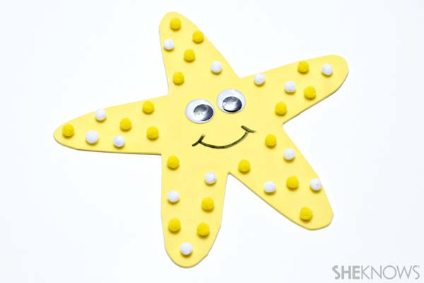 Starfish craft - Ocean crafts for kids