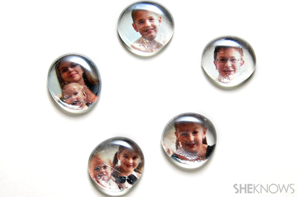 Photo marble magnets