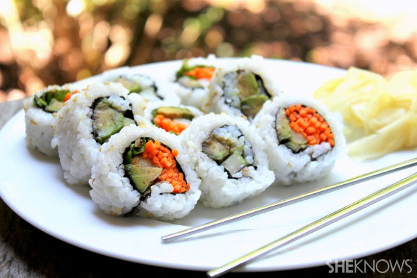 This recipe will make approximately nine sushi rolls, and will feed ...