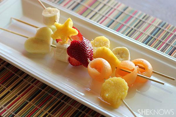 Shaped fruit skewers