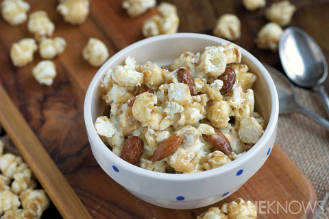 Crunchy caramel and kettle corn ice cream