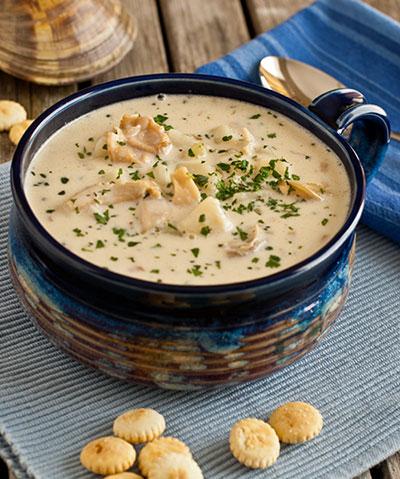 Family Feast clam chowder