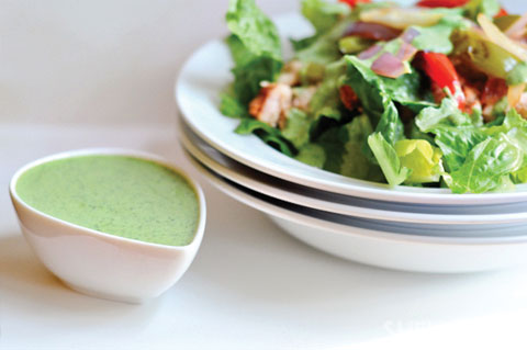 Creamy cilantro dressing for fajita salad