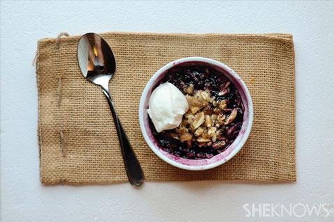 microwave breakfast cobbler