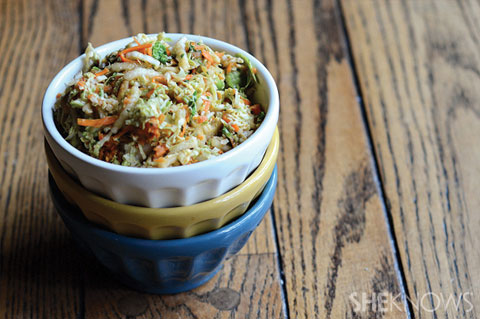sweet and spicy thai slaw