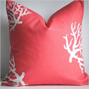Coral pillow case