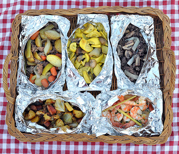 Grilled hobo dinners