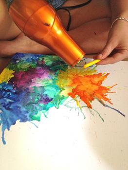 12. Crayon Art