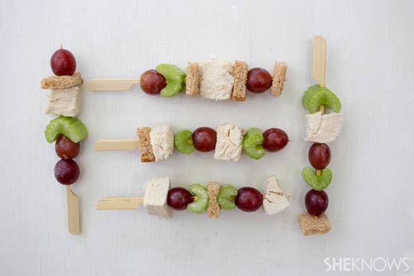 Fun skewered sandwiches
