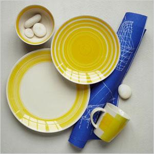 bold yellow dinnerware set