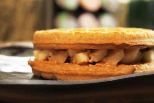 Peanut Butter Banana Waffle Sandwich