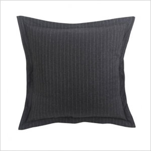 pinstriped wool pillow cover