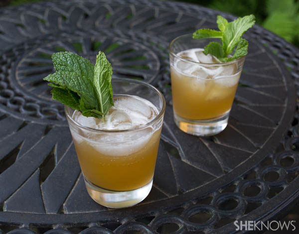 Minted whiskey sour