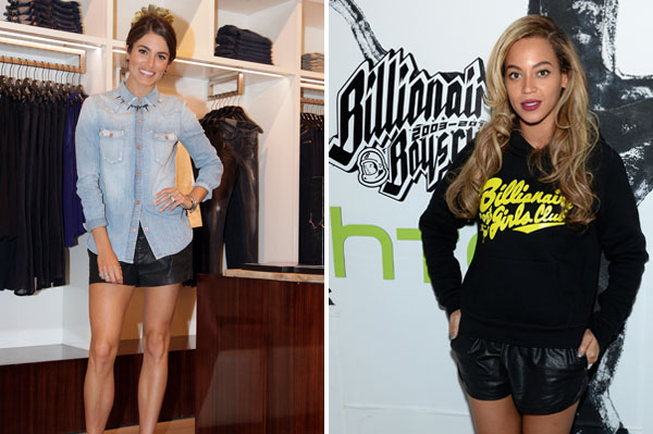 Nikki & Beyoncé:Lovely in leather