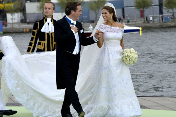 Princess Madeleine weds in Valentino