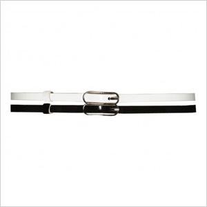 Tri-colored skinny belt