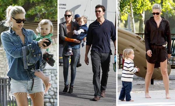 Ali Larter with son and husband
