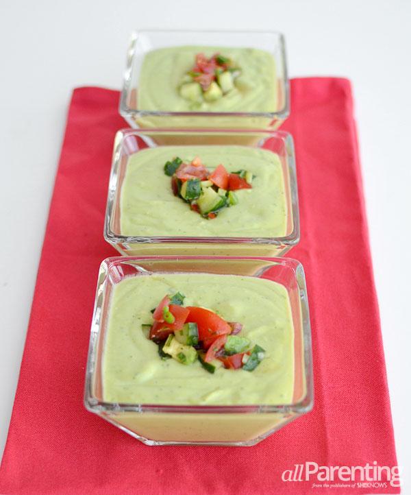 allParenting avocado soup with tomato salsa