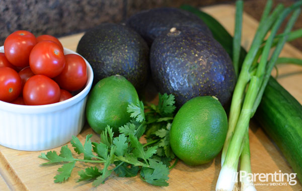 avocado soup with tomato salso ingredients