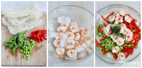 allParenting rice noodle salad with shrimp