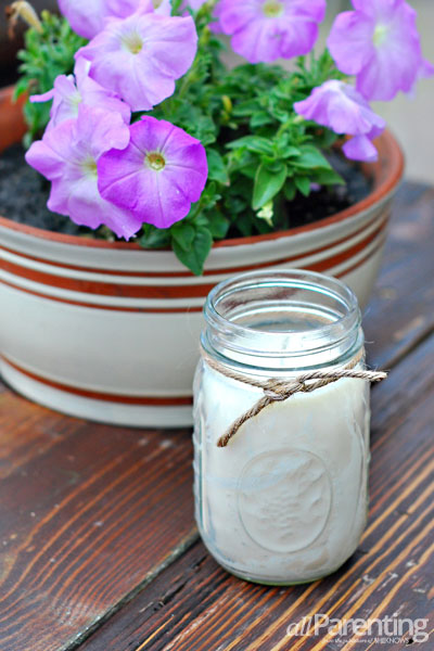 allParenting mason jar citronella candle