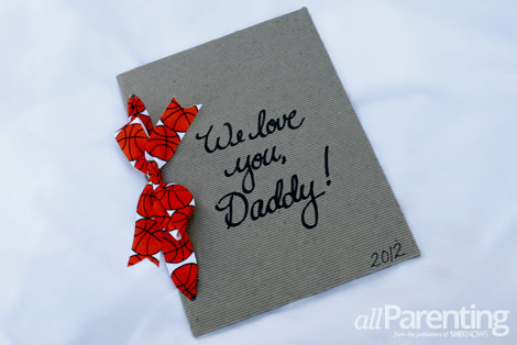 Handmade Father's Day memory book