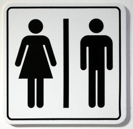 unisex bathroom sign