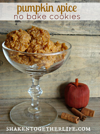 Pumpkin spice no-bake cookies