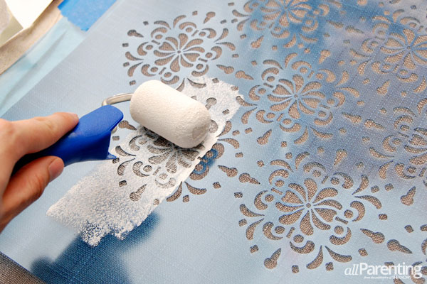 How To Stencil Fabric With Acrylic Paint