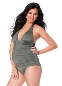 L*Space/Maio Halter Maternity One-Piece Swimsuit from A Pea in the Pod