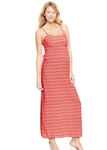 Printed Strappy Maxi Dress from Gap
