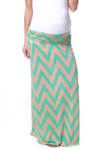 Chevron Maternity Maxi Skirt by Pink Blush Maternity