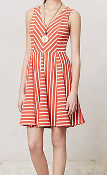 Anthropologie striped sundress