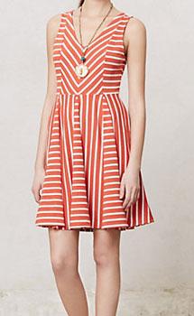 Anthropologie striped sundress