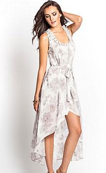Grommet Floral Maxi Dress