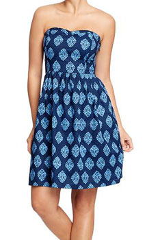 Women's Smocked Sweetheart Tube Dress