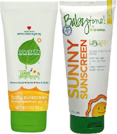 baby sunscreen lotions