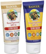 Badger sunscreen suggestions