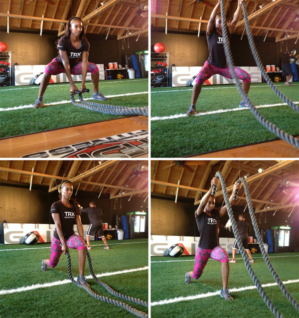 Scorch calories with battle ropes